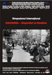 """Simpozionul Internaţional """"Calvarul - Deportări şi Destine"""" - Făgăraş - Sâmbăta de Sus, iulie 2010"""