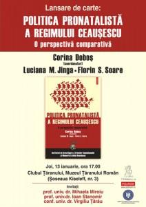"""Lansarea volumului """"Politica pronatalistă a regimului Ceauşescu. O perspectivă comparativă"""", 2011"""