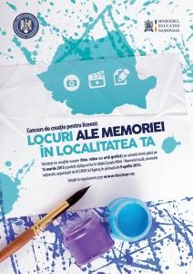 Concurs de creatie Locuri ale memoriei
