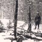 Fig. 6. Resturile cabanei incendiate de la  Groşi