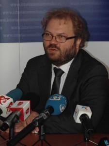 Prima conferinţă de presă susţinută de noul Preşedinte executiv al IICCMER, Radu Preda, aprilie 2014
