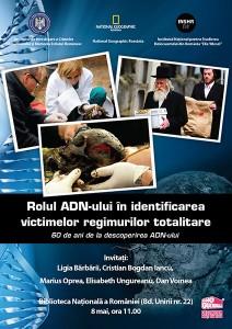"""Dezbaterea """"Rolul ADN-ului in identificarea victimelor regimurilor totalitare"""", mai 2013, Bucureşti"""