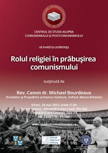 Conferinţa Rolul religiei în prăbușirea comunismului, mai 2013, Iaşi