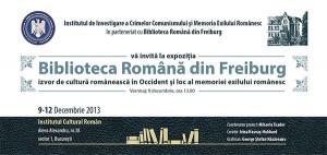 Expoziţia Biblioteca Română din Freiburg, decembrie 2013, Bucureşti