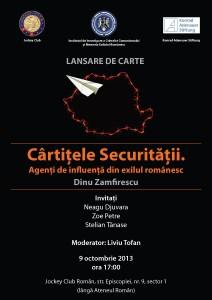 """""""Agenţi de influenţă ai Securităţii din exilul românesc"""" de Dinu Zamfirescu"""