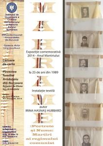 Mahrame: portrete și nume: Martiri ai regimului comunist, decembrie 2014, Câmpulung Muscel
