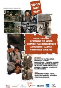 """Conferința internațională a studenților """"Redefining the Nation. Ethnicity and Nationhood in Communist and Post-Communist societies"""", 18-19 mai 2012, Bucureşti"""