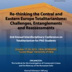 "Conferinţa ""Re-thinking the Central and Eastern Europe Totalitarianisms: Challenges, Entanglements and Reassessments"", octombrie 2013, Sibiu"