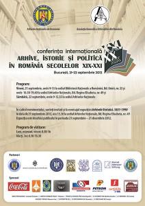 """Conferinţa """"Internaţională Arhive, istorie şi politică în România secolelor XIX-XXI"""", septembrie 2012, Bucureşti"""