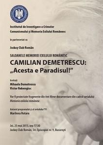Camilian Demetrescu: Acesta este Paradisul!, mai 2013