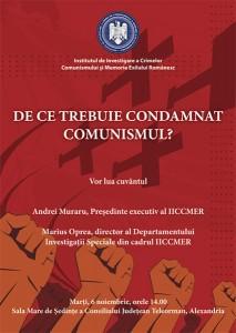 Conferinţa De ce trebuie condamnat comunismul?, noiembrie 2012, Alexandria