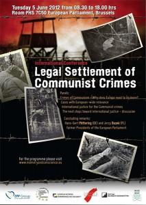 """Conferinţa internaţională """"Legal Settlement of Communist Crimes"""", iunie 2012"""