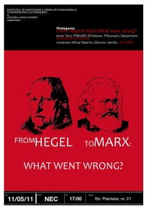 "Prelegerea ""From Hegel to Marx"", 2011"
