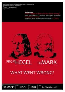 """Prelegerea """"From Hegel to Marx"""", 2011"""