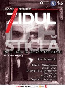 """Lansarea volumului """"Zidul de sticlă. Ion D. Sîrbu în arhivele Securității"""", 2011"""