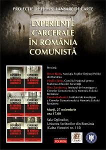 """Lansare de carte şi proiecţie de film """"Experienţe carcerale în România comunistă"""", 2012"""