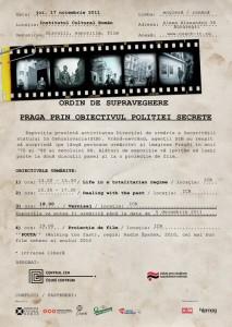 Praga prin obiectivul poliţiei secrete, 2011