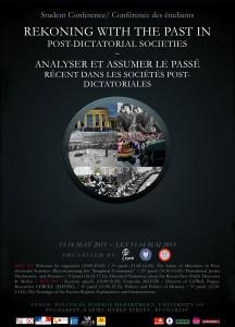 Conferinţă studenţească: Analiza şi asumarea trecutului recent în societăţile post-dictatoriale, 2011