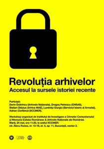 Workshop: Revoluţia arhivelor. Accesul la sursele istoriei recente, 2011