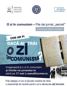 "Concurs ""O zi in comunism: file de jurnal «secret»"", 2014"