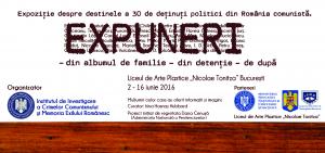 Expoziţia EXPUNERI la Liceul Tonitza, iunie 2016