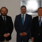 Radu Preda, Jens Rommel şi Augustin Lazăr, octombrie 2016