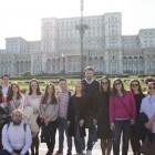 Participanţii Şcolii de primăvară vizitează Palatul Parlamentului, aprilie 2017