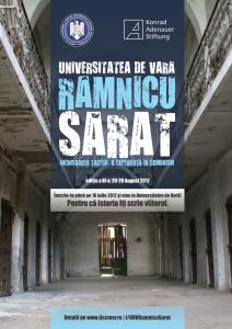 Afiş Universitatea de vară Râmnicu Sărat 2017