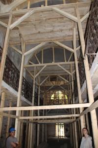 Reparaţii de urgenţă la fosta închisoare Râmnicu Sărat, august 2017