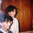 Fotografie de la sfârşitul anilor '80,  din exil: Maria Brătianu alături de Antonia Constantinescu (1940-2003), redactor-şef al Revistei Lupta (Paris)